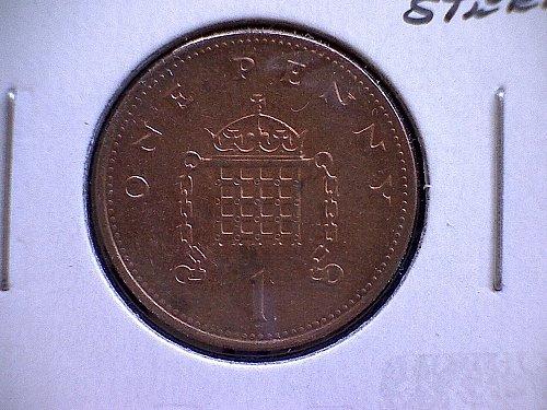 1998 GREAT BRITAIN ONE PENNY  QUEEN ELIZABETH 11