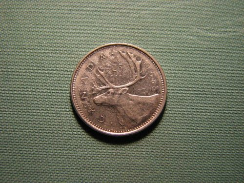 1985 Canada 25 cents