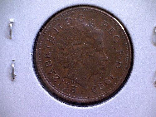 1999 GREAT BRITAIN ONE PENNY QUEEN ELIZABETH 11