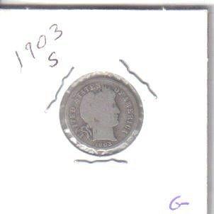 1903  S  BARBER DIME