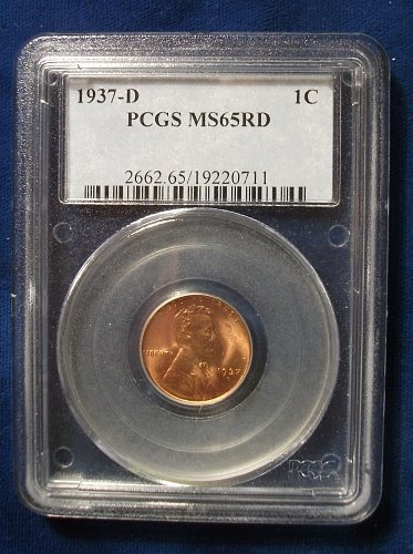 1937D PCGS MS65RD Wheat Cent