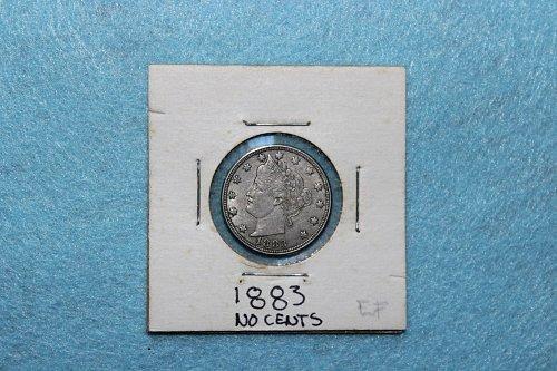 1883 P Liberty Nickel: No Cents
