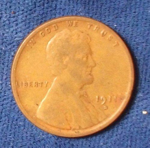 1911D Wheat Cent Fine