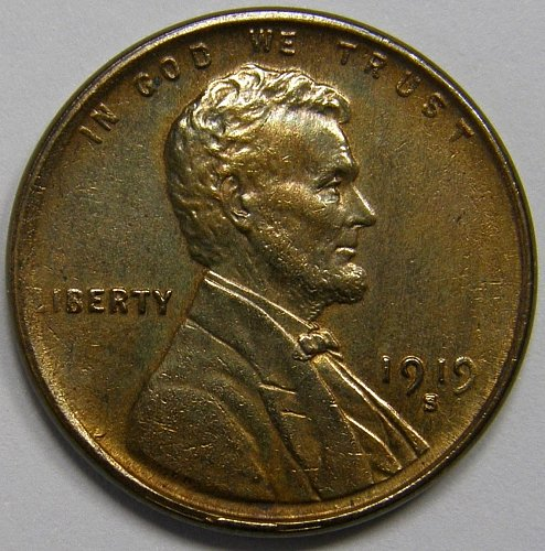 1919 S Lincoln Wheat Cent #3