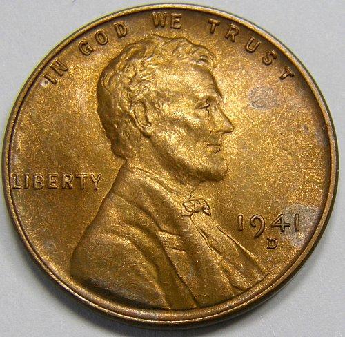 1941 D/D Lincoln Wheat Cent #2  RPM-005