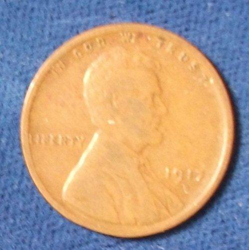 1917D Wheat Cent VG