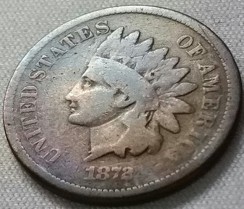 1872 Indian Head Cent Small Cent: Bold N - Good