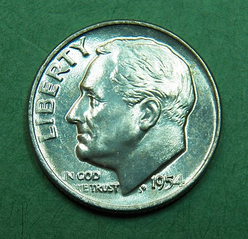 1954 D Roosevelt Dime Brilliant Uncirculated Coin   f43
