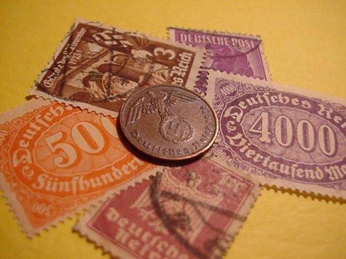 1938 german 1 pfenning (swastika)