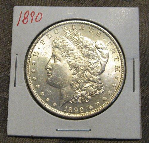 1890 P MORGAN SILVER DOLLAR, NICE B.U.