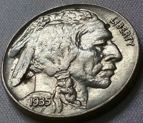 1935 Buffalo Nickel ~ MS 64
