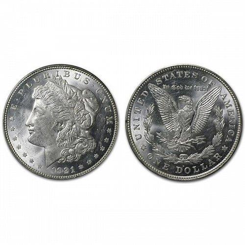 1921 D Morgan Silver Dollar - BU