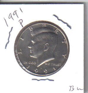 1991 P  KENNEDY HALF DOLLAR