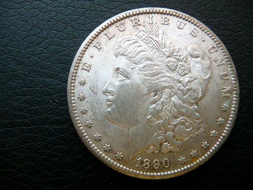 1890 - S  Morgan Dollar