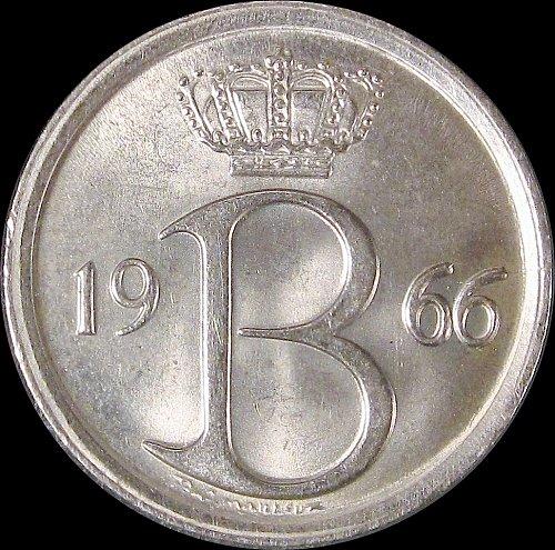Belgium 1966 25 Centimes Baudouin I