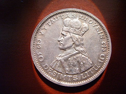 1936 10 Litu (Silver coin from Lithuania)