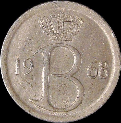 Belgium 1968 25 Centimes Baudouin I