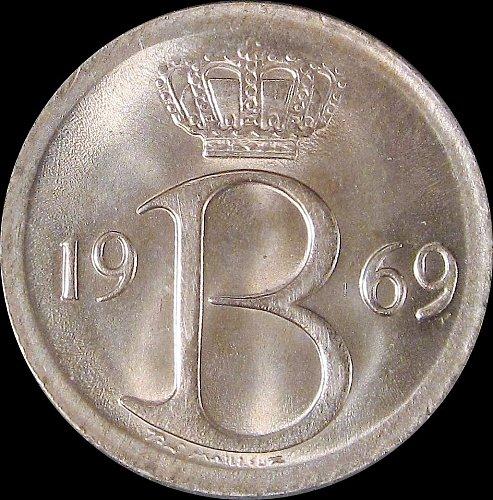 Belgium 1969 25 Centimes Baudouin I