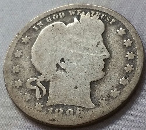 1896 O Barber Quarter - Good