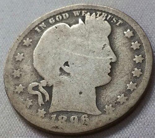 1896 O Barber Quarter - Good