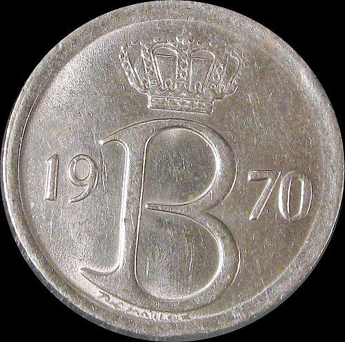 Belgium 1970 25 Centimes Baudouin I