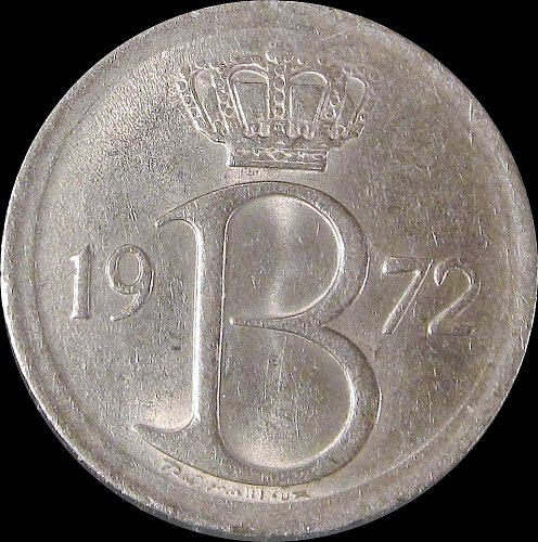 Belgium 1972 25 Centimes Baudouin I