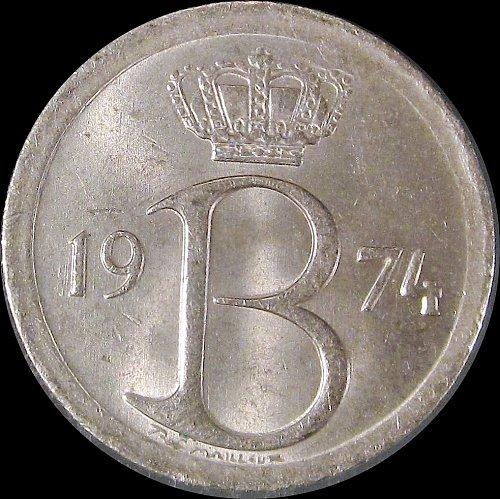 Belgium 1974 25 Centimes Baudouin I