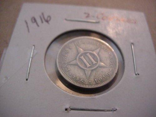 2-nice cuba coin 1915 1 centavos and 1916 2 centavos