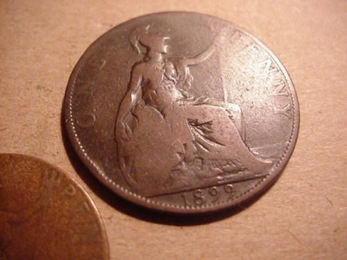 1899 penny and 1915 half penny