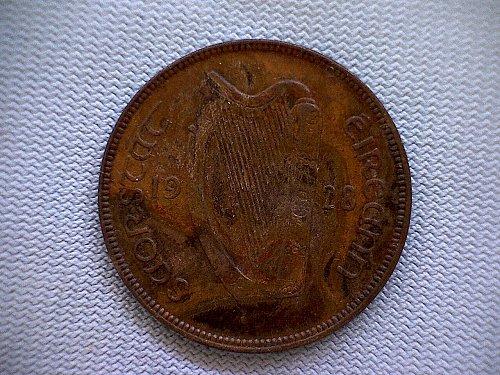 1928 IRELAND ONE PENNY