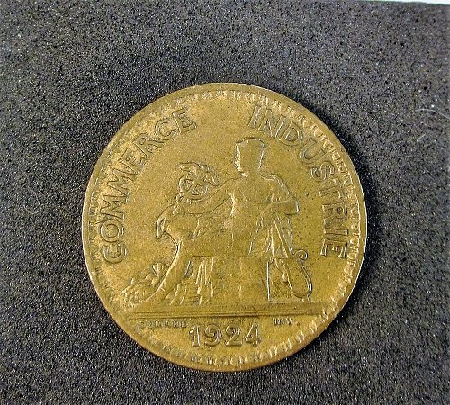 France 1924 1 Franc Chambers of Commerce (Closed 4)