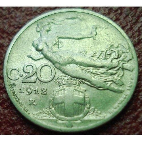 1912 italy 20 centosmi