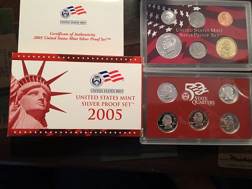 2005 S Silver Proof 11 Piece Set with COA