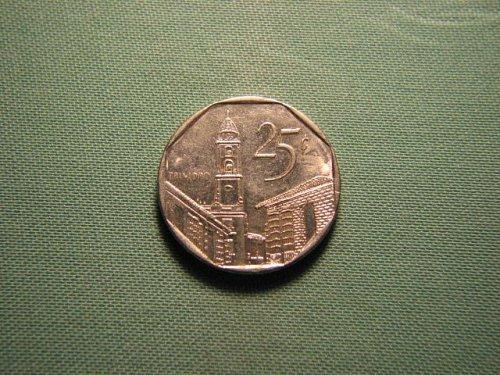 2000 Cuba 25 centavos*