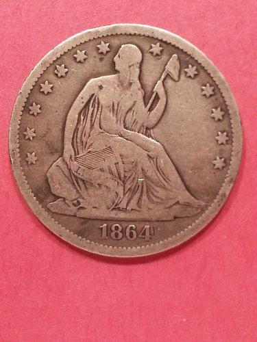1864-S Seated Liberty Half