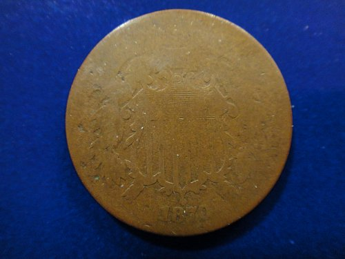 1870 Two Cent Piece Good-4 Nice Chocolate Brown & A Better Date!