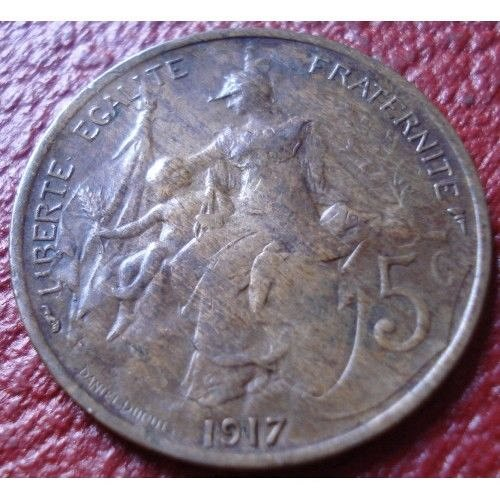 1917 france 5 centimes