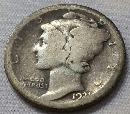 1921 D Mercury Dime ~ AG