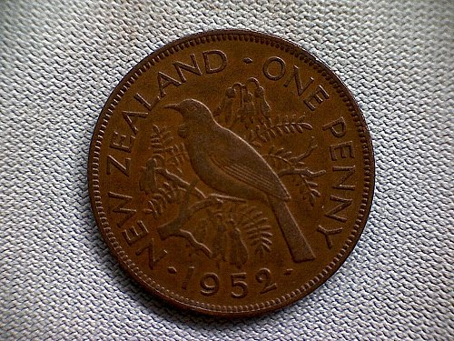 1952 NEW ZEALAND ONE PENNY