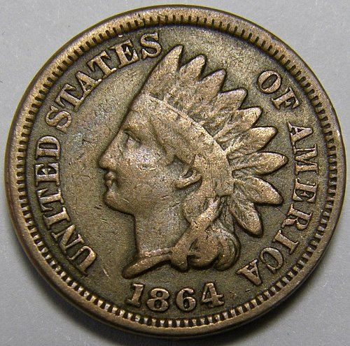 1864 CN Indian Head Cent #12