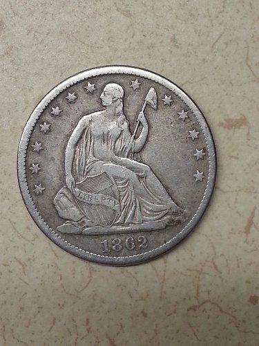 1862-S Seated Liberty Half