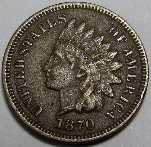 1870 P Indian Head Cent #4 - Shallow N