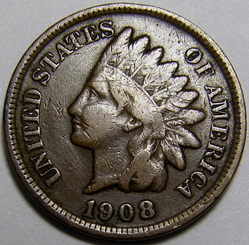1908 P Indian Head Cent #14