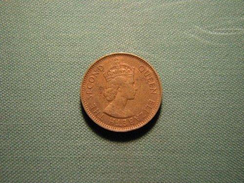 1957 Hong Kong 10 cents (mint mark KN)