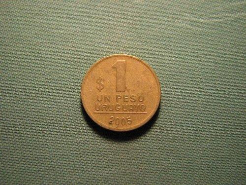 2005 Uruguay 1 peso