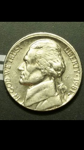 1981-P nickel with partial collar error
