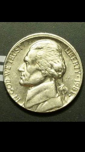 1981-P nickel with partial collar error
