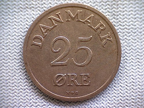 1950H  DENMARK TWENTY-FIVE ORE