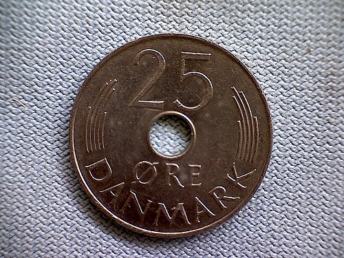 1976H  DENMARK  TWENTY-FIVE ORE