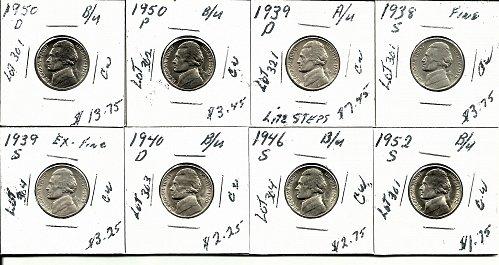 1950D  //1950P //1939D //1939s //  1938S//  1940D //  1946S// 1952S